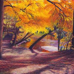 Пазл онлайн: Осенние деревья
