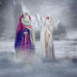 Пазл онлайн: Король и королева Исландии