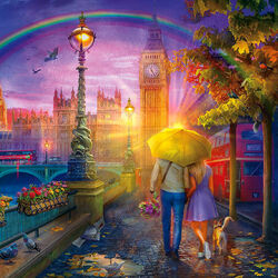 Пазл онлайн: Лондонский дождь