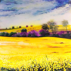 Пазл онлайн: Желтое поле