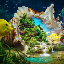 Пазл онлайн: Сокровища моря