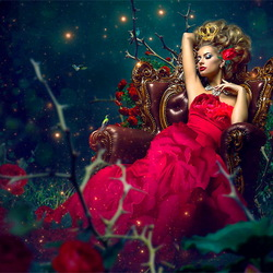 Пазл онлайн: Королева роз