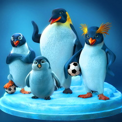 Пазл онлайн: Пингвины