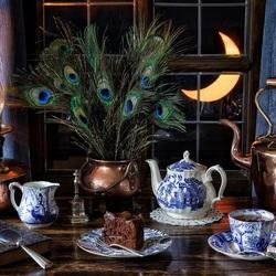 Пазл онлайн: Вечернее чаепитие