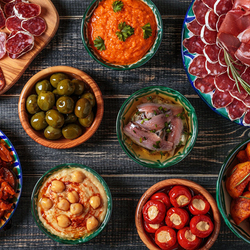 Пазл онлайн: Разнообразие блюд