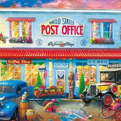 Пазл онлайн: Почта и магазин