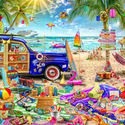 Пазл онлайн: Пляжный отдых