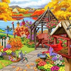 Пазл онлайн: Деревенский сад