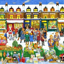 Пазл онлайн: Рождественский рынок