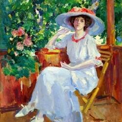 Пазл онлайн:  Портрет артистки Н.И. Комаровской