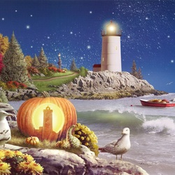 Пазл онлайн: Хэллоуинская ночь