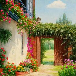 Пазл онлайн: Андалуские дворики