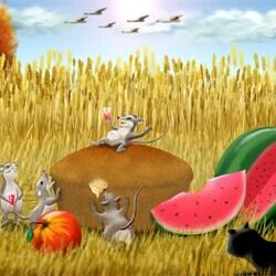 Пазл онлайн: Мышиный рай