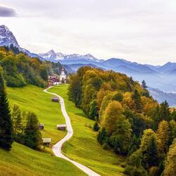 Пазл онлайн: Баварские Альпы