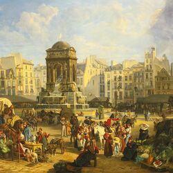 Пазл онлайн: Рынок в Париже