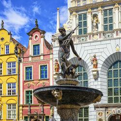 Пазл онлайн: Фонтан Нептуна в Гданьске