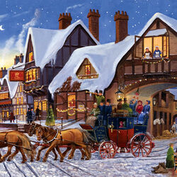 Пазл онлайн: Доставка в Рождественские праздники