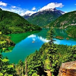 Пазл онлайн: Лето в горах
