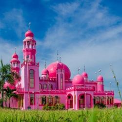Пазл онлайн: Розовая Мечеть