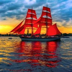 Пазл онлайн: Алые паруса
