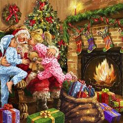 Пазл онлайн: Спасибо, Санта!