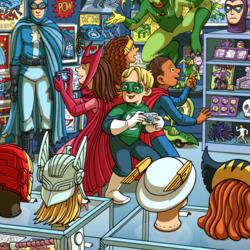 Пазл онлайн: В магазине карнавальных костюмов