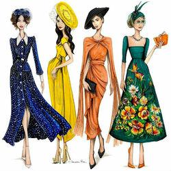 Пазл онлайн: Модные наряды