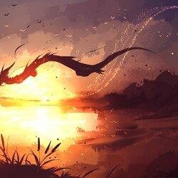Пазл онлайн: Летящий дракон