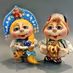 Пазл онлайн: Куколки