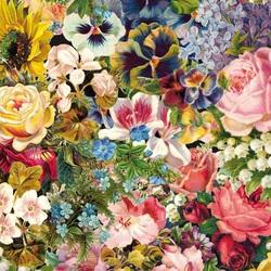Пазл онлайн: Винтажные цветы