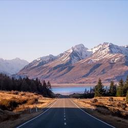 Пазл онлайн: Дорога в горах