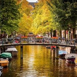 Пазл онлайн: Улицы Амстердама