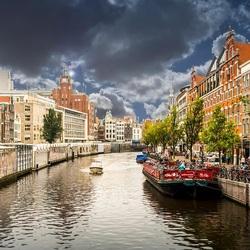 Пазл онлайн: Каналы Амстердама