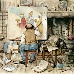 Пазл онлайн: Мастерская художника