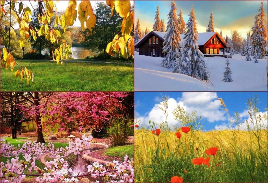 фотографии времен года для календаря что