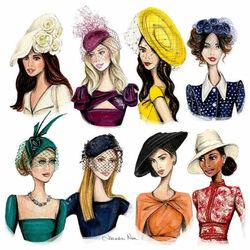 Пазл онлайн: Модные шляпки