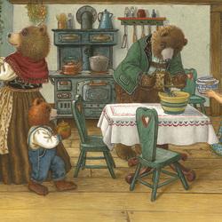 Пазл онлайн: В домике трех медведей
