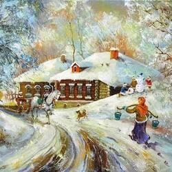 Пазл онлайн: Русская зима