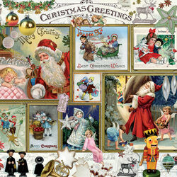 Пазл онлайн: Рождественские поздравления