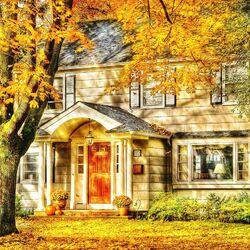 Пазл онлайн: Осенний листопад