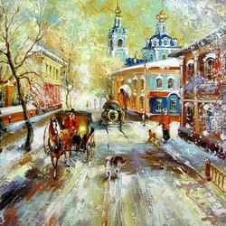 Пазл онлайн: Вид на Сергиево-Казанский собор