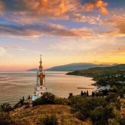 Пазл онлайн: Закат в Малореченском