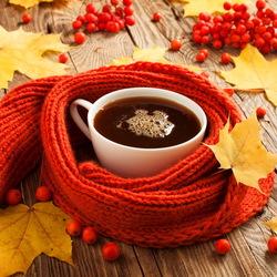 Пазл онлайн: Осенняя чашечка чая