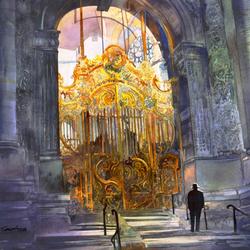 Пазл онлайн: Вход в Храм