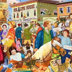 Пазл онлайн: День рынка
