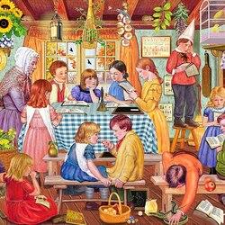 Пазл онлайн: Школа мисс Принн