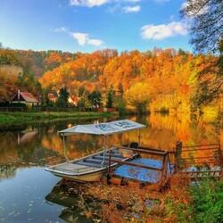 Пазл онлайн:  Осень в Чехии