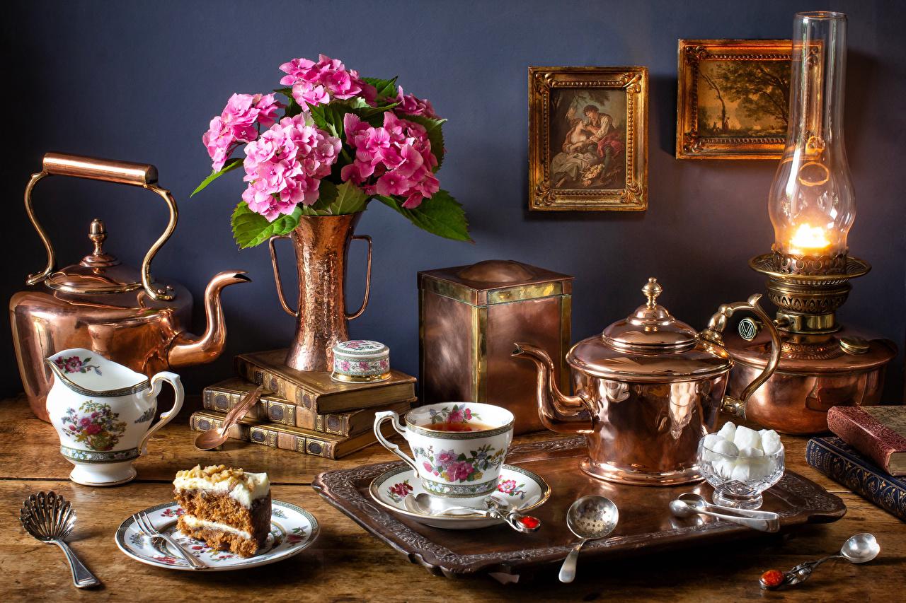большой вечерний чай ретро картинка автосервису для ведения