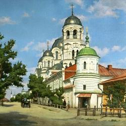 Пазл онлайн: Крестовоздвиженский монастырь