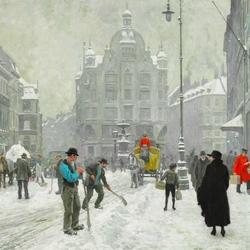 Пазл онлайн: Зимний Копенгаген